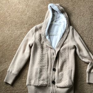 Button front sweater coat